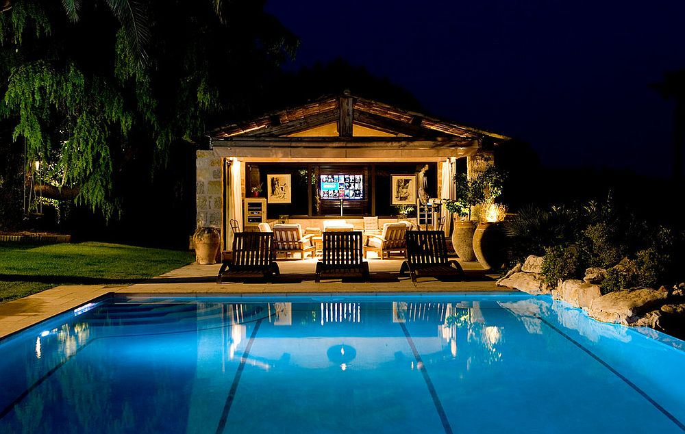 Awesome outdoor entertainment zone and home theater