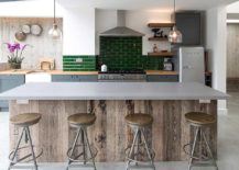 Casual-industrial-style-kitchen-with-subway-tiled-backsplash-in-green-217x155