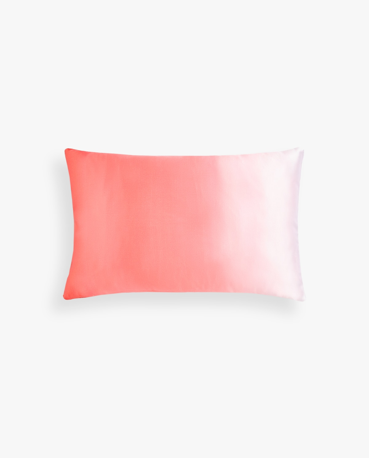 Coral ombre throw pillow cover