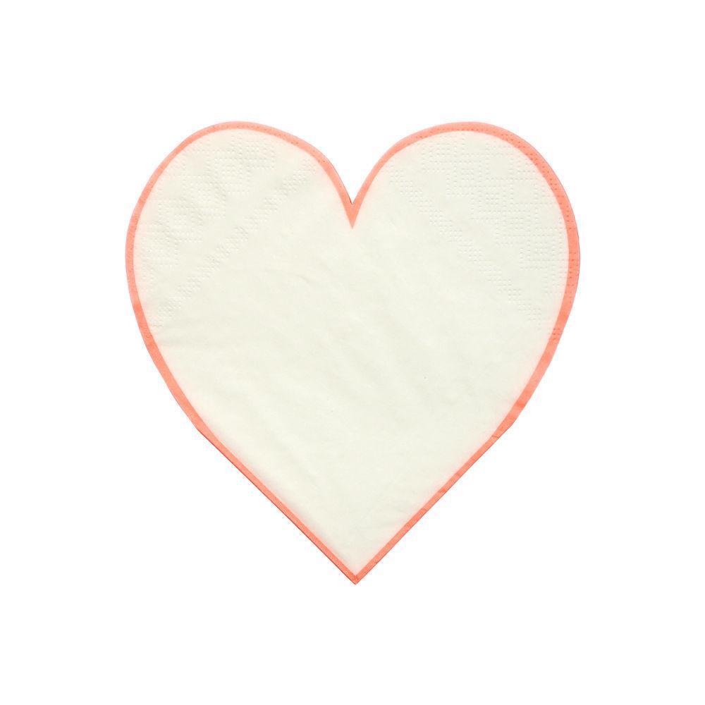 Coral-trimmed napkins from Meri Meri