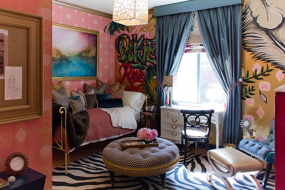 Eclectic bedroom gives you more freedom with decorating options on Valentine's Day