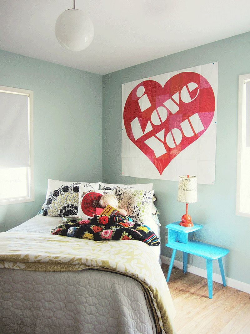 Eclectic bedroom that celebrates your love