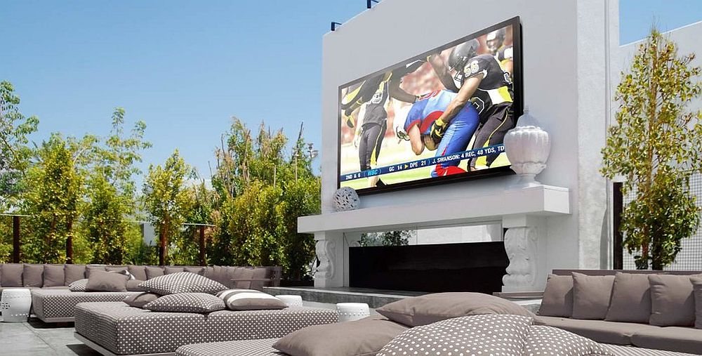 Enjoy the big game night with friends and family outside