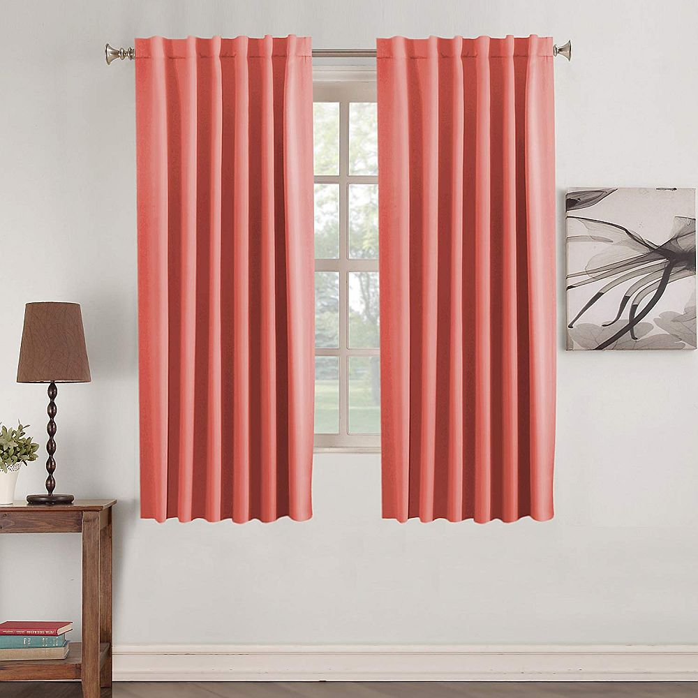 Finding the right coral curtains for your contemporary living room