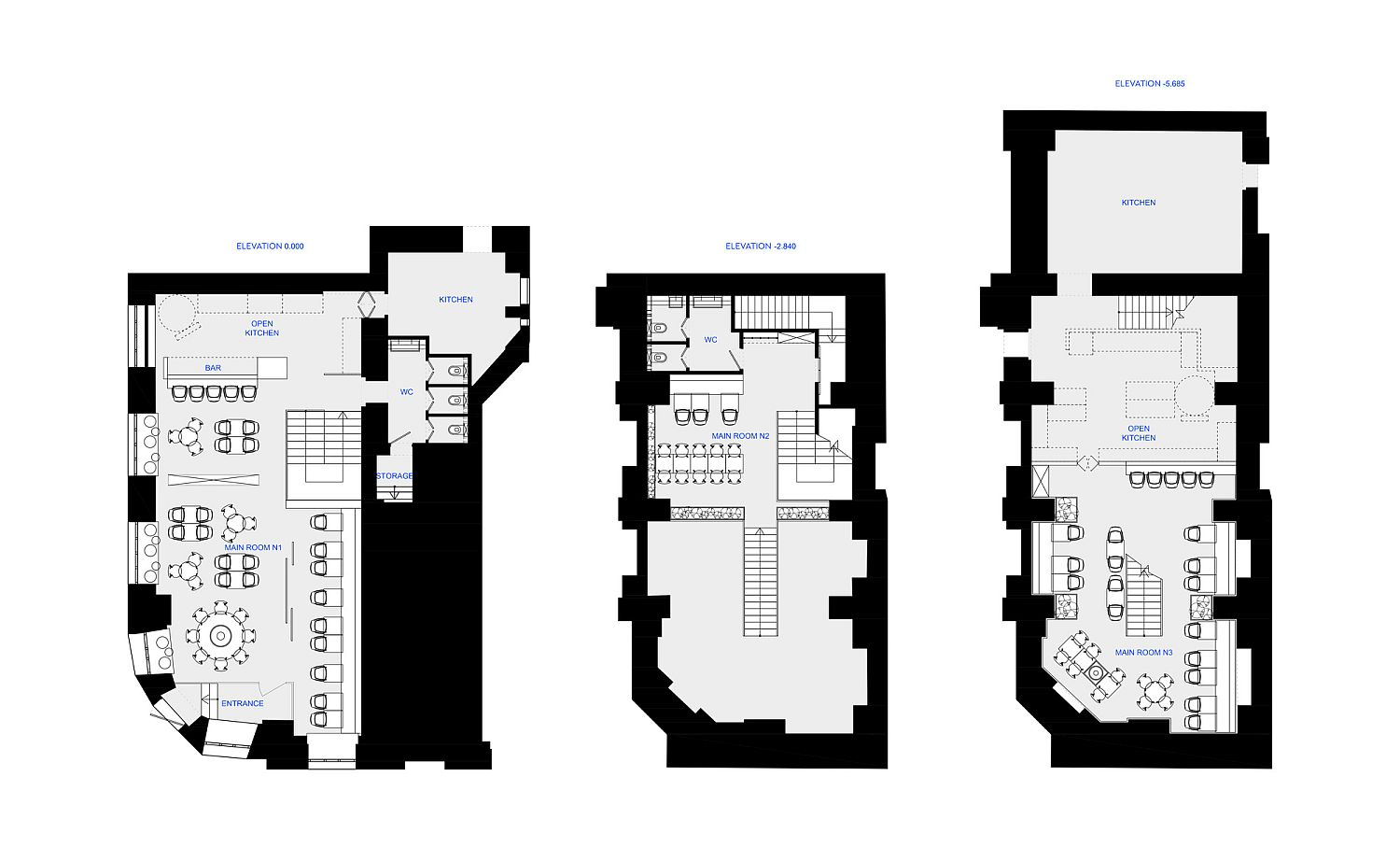 Floor plan of Pizza 22 in Moscow