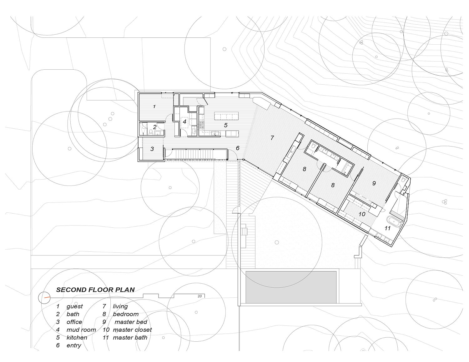 Floor plan of Sugar Shack Residence
