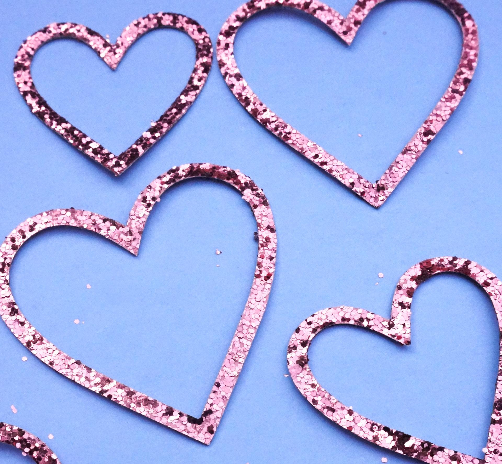 Glittering Valentine's Day hearts