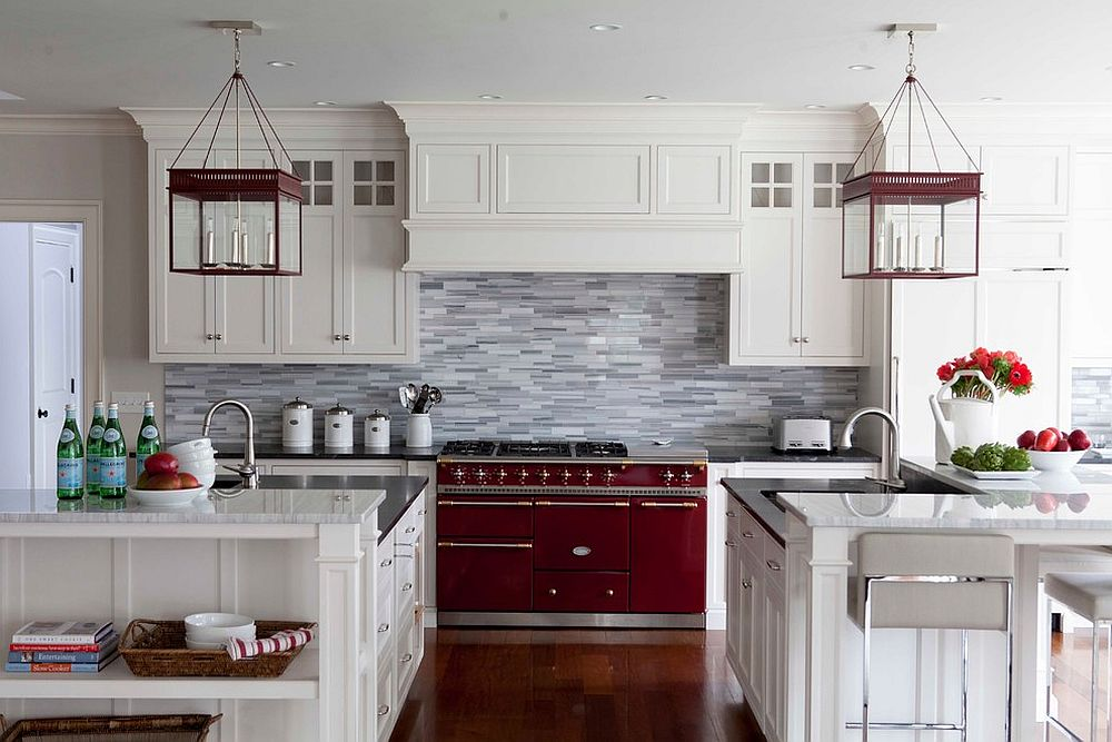 Gray backsplash fits in with any style you have going