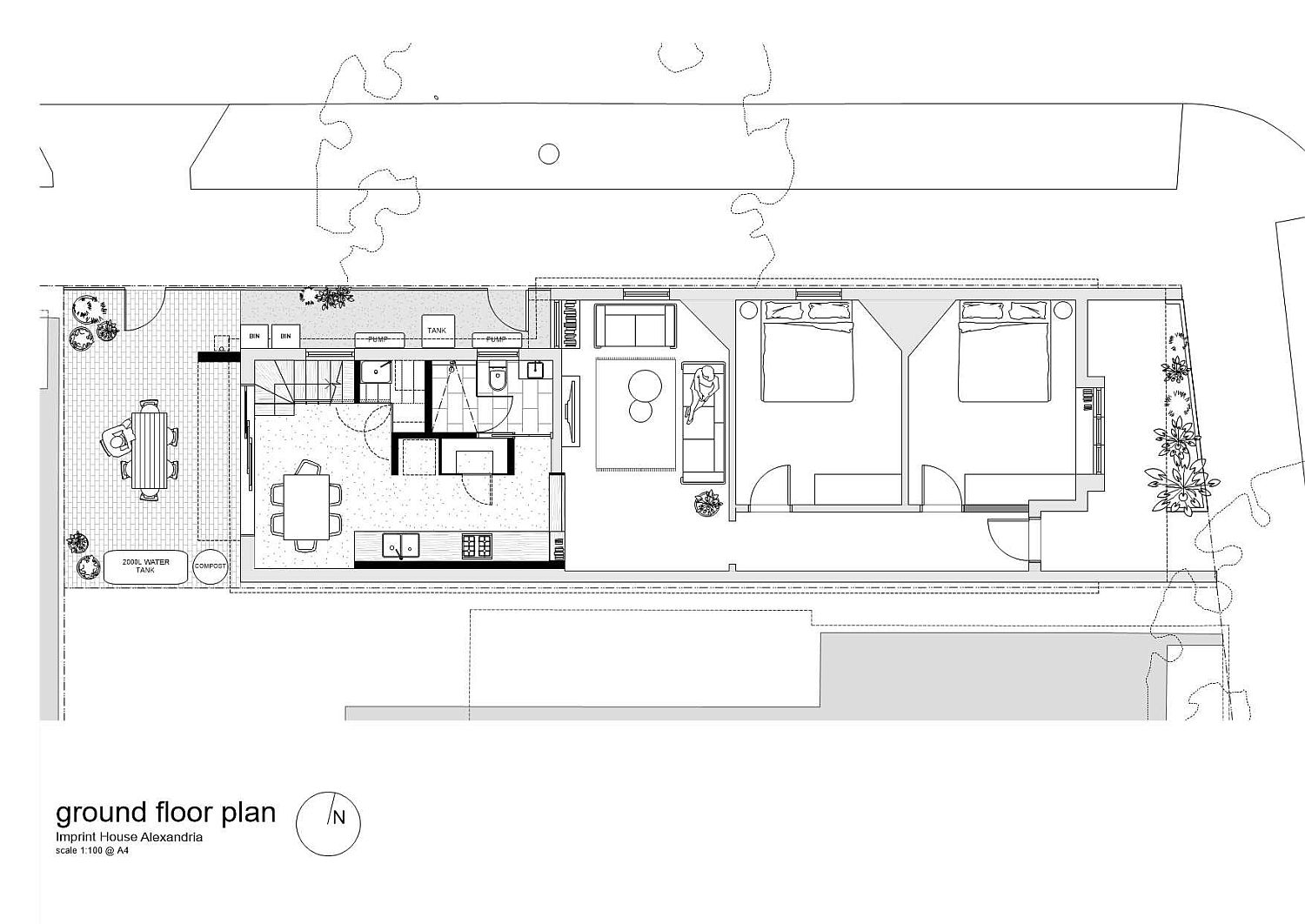 Ground floor plan of the Imprint House