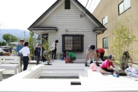 Bringing the Community Together: Pit Terrace Outside Japanese Barber Shop