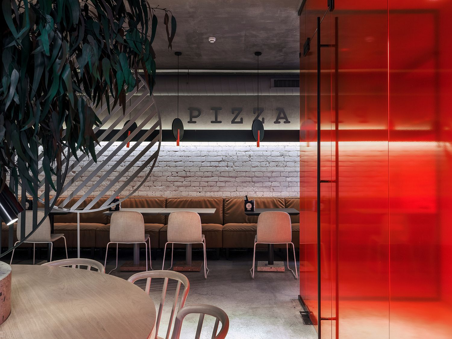 Look inside the charming and minimal Pizza 22 outlet in Moscow