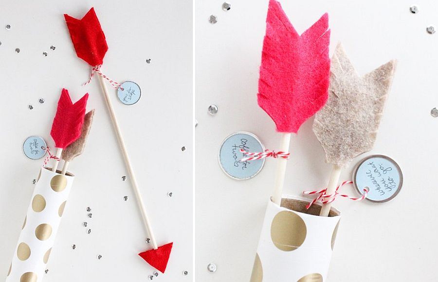 Lovely DIY arrow crafts bring fun motifs to the bedroom wall