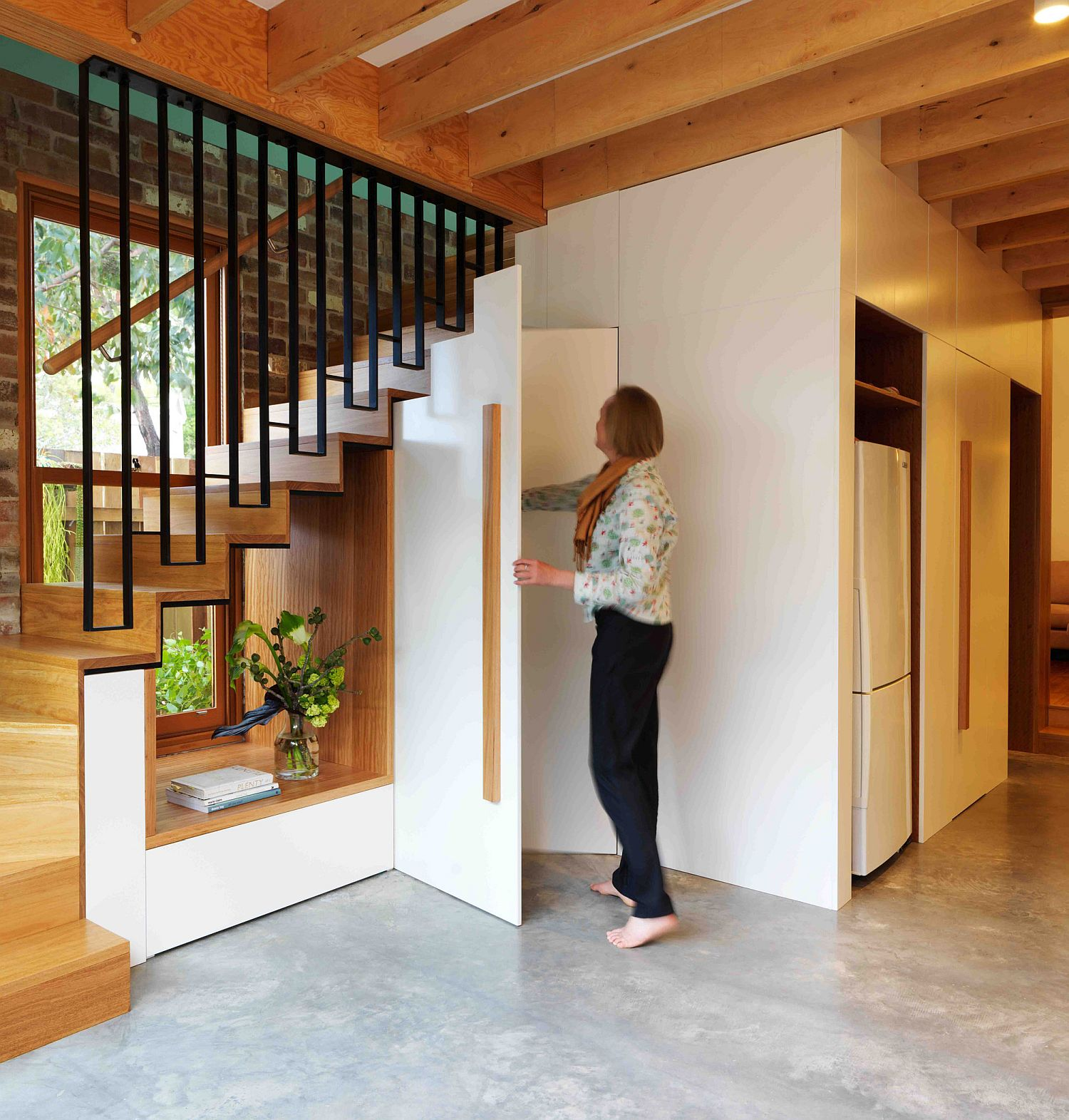 Making use of the space under the staircase in more ways than one