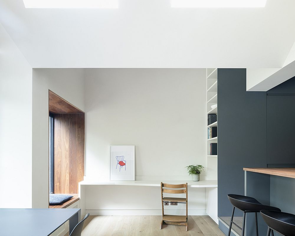 Minimal and modern interior of the extended London home
