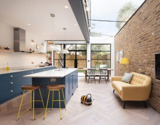 Glass, Wood and Steel: Contemporary Rear Extension to Cramped London Home