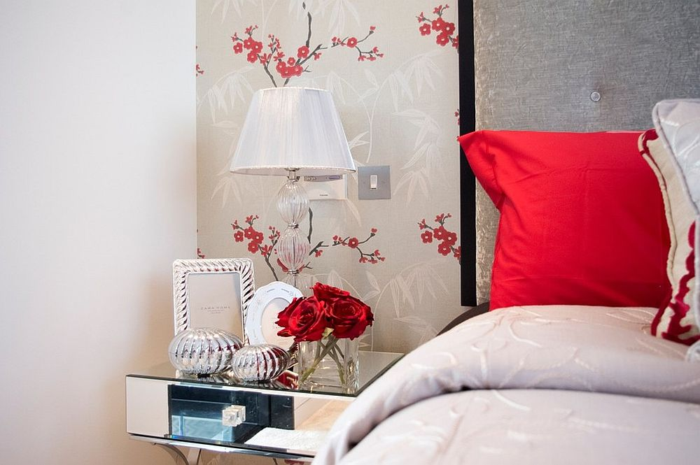 Pops of red can bring romantic panache with ease