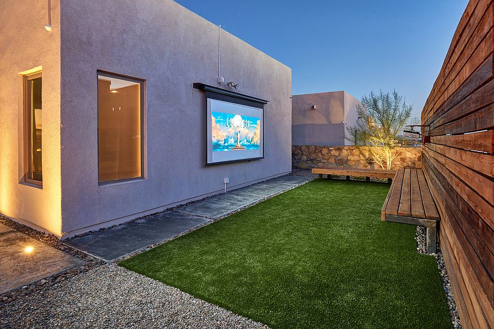Projector and screen is all you need to transform the backyard