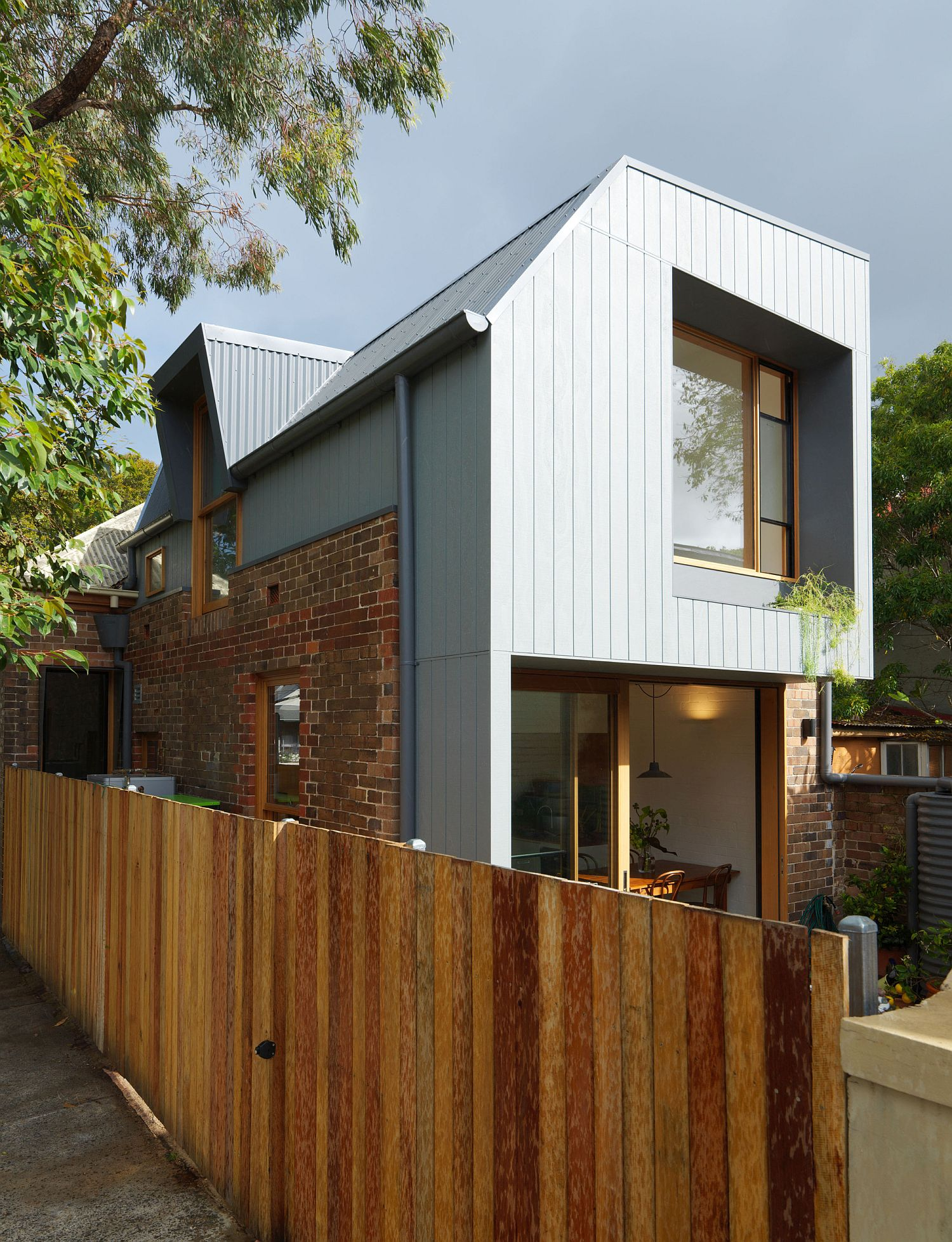 Revamped home in inner suburbs of Sydney with a rear extension