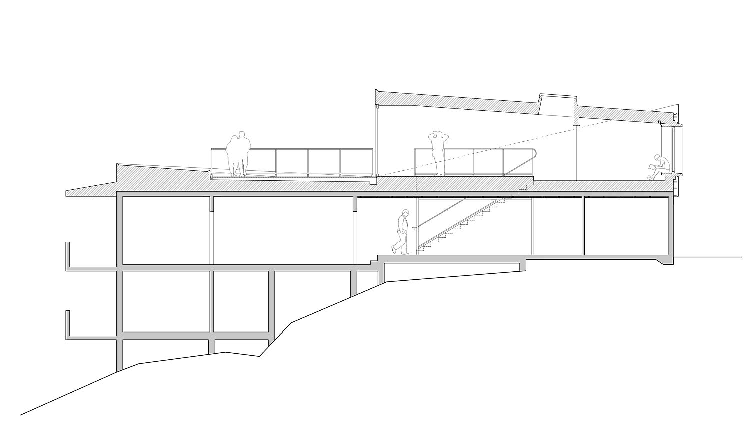 Sectional view of the Cyclops House