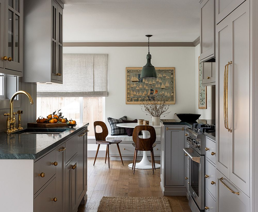 Shaker-style cabinets bring symmetry and style to the modern kitchen