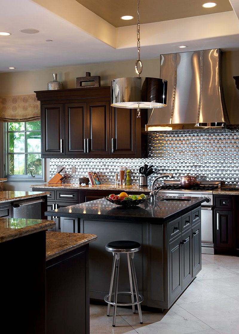 Stainless steel hood and backsplash for the modern kitchen