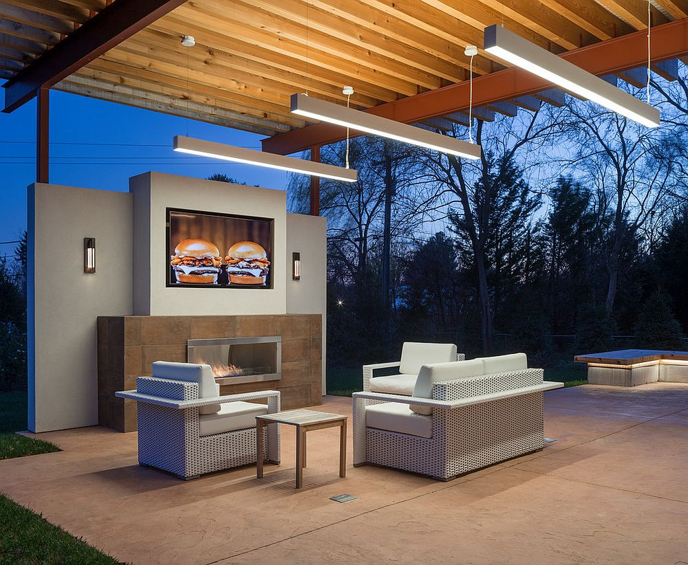 Taking the contemporary home theater outside is both easy and cost-effective