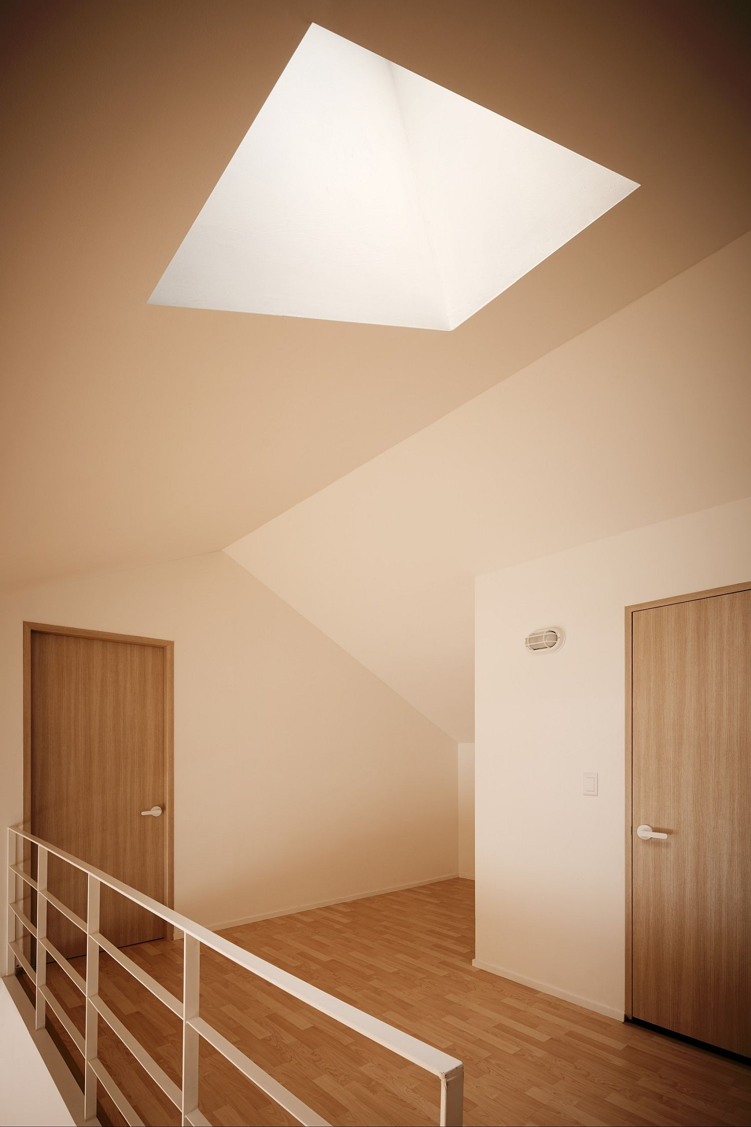 Using the skylight to fill the house with ample natural light