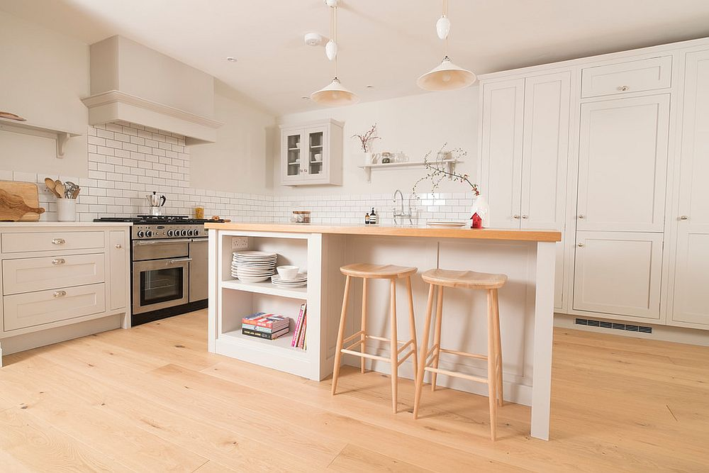White and wood shaker style kitchen works for everyone!