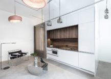 Central-kitchen-bedroom-and-bathroom-unit-defines-the-tiny-apartment-217x155
