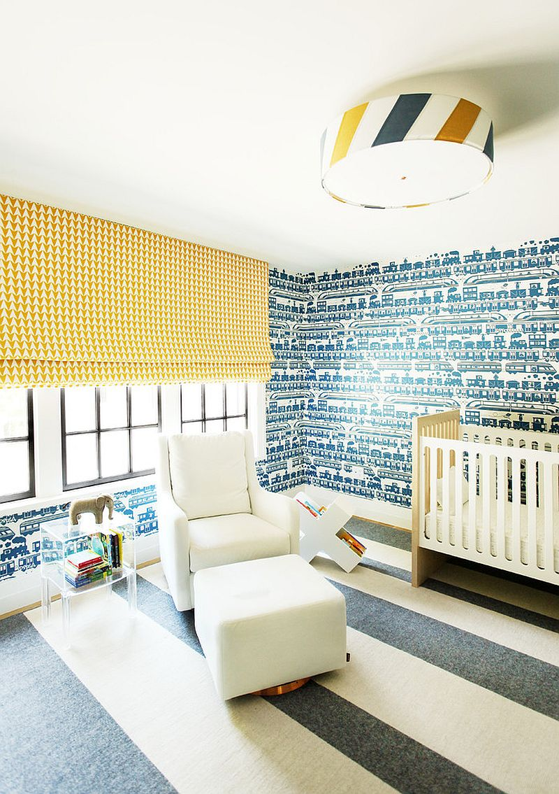 Choosing the perfect wallpaper for your nursery depends both on color and style