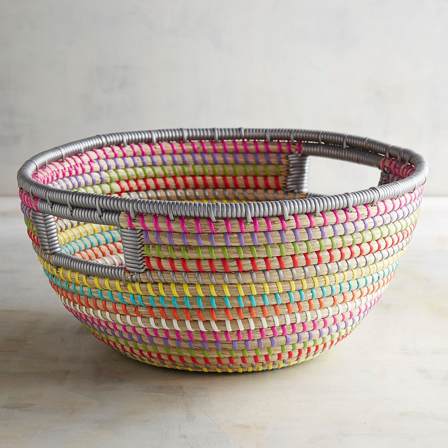 Colorful rainbow basket
