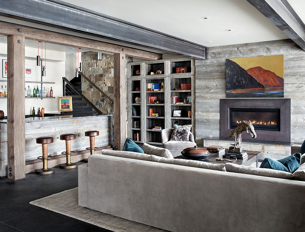 Create a second home in the spacious basement
