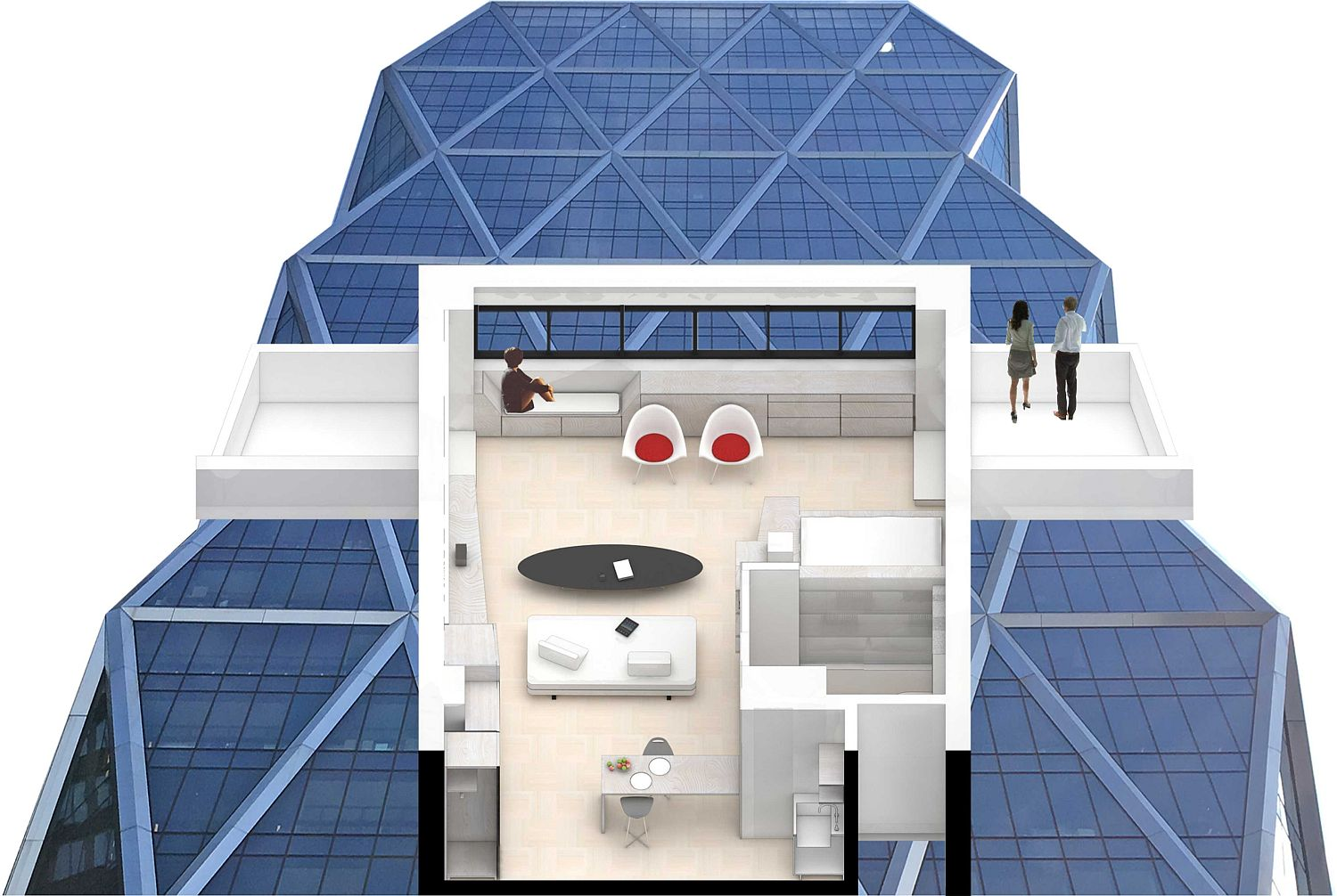 Design plan of the West 56th Penthouse