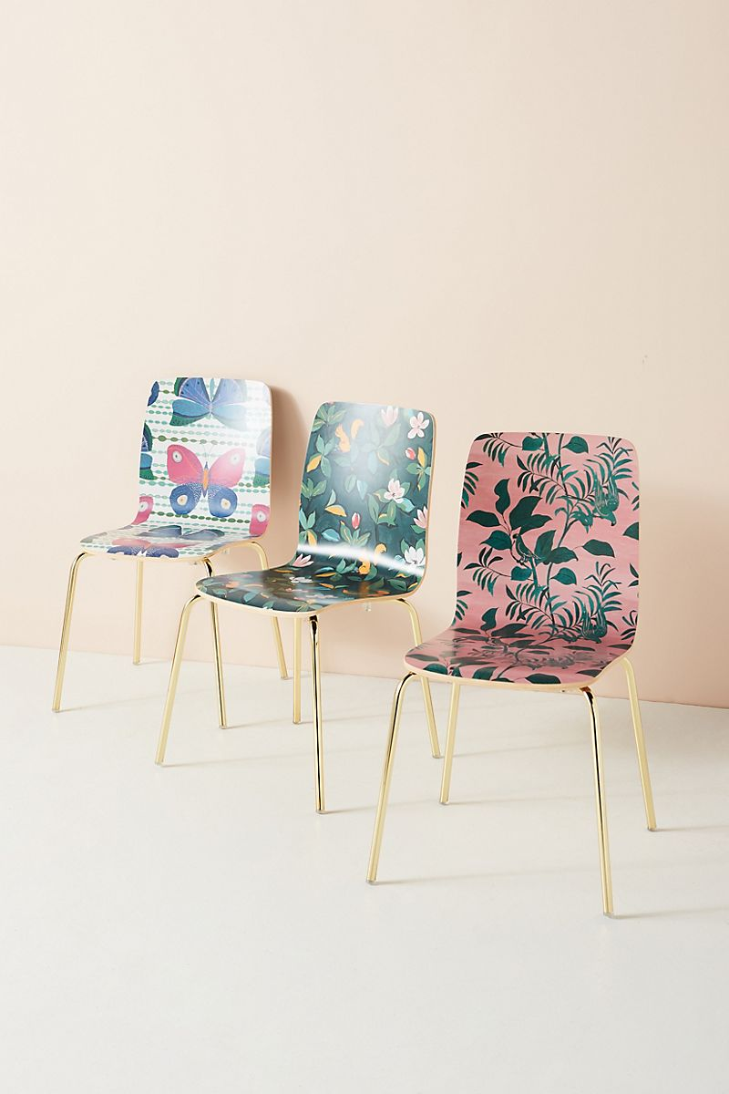 Dining chairs from Paule Marrot and Anthropologie