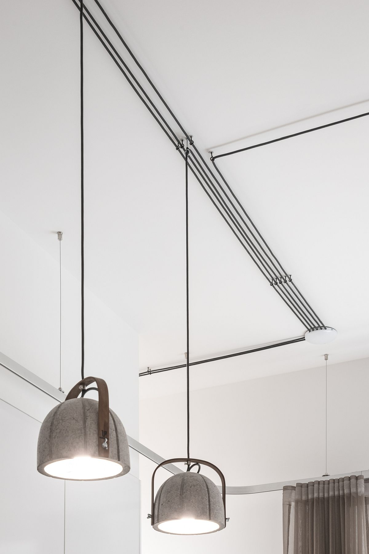 Industrial style pendants for the modern minimal apartment