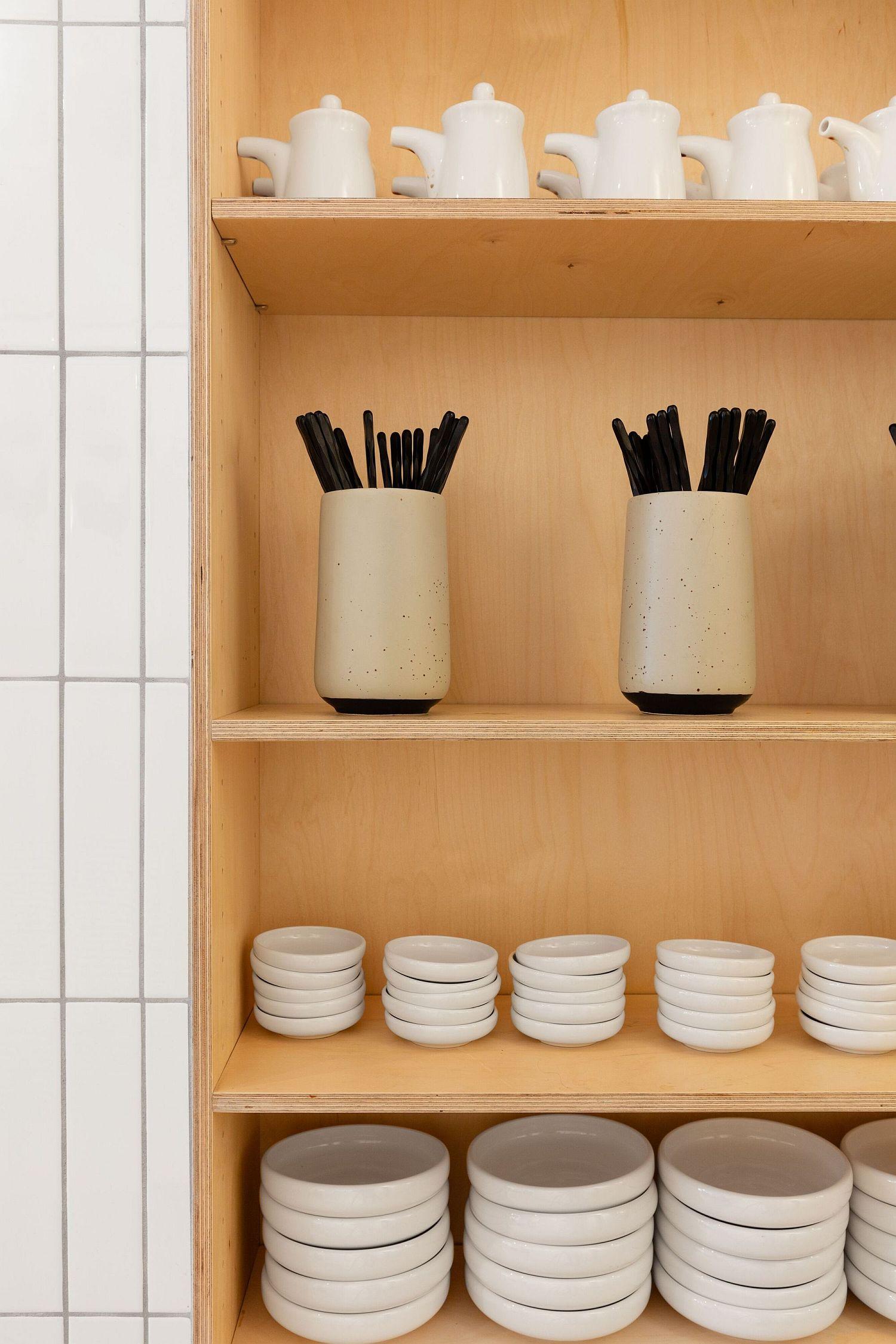 Minimal-wooden-shelves-inside-the-Japanese-cafe