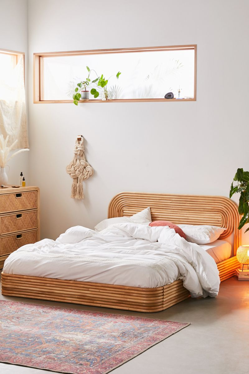 Modern rattan bed from Urban Outfitters