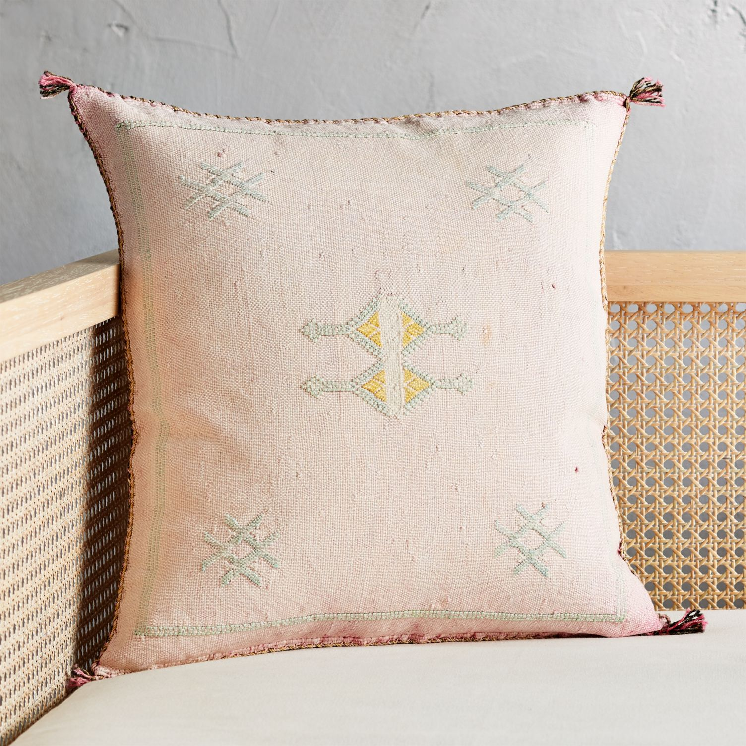 Moroccan silk pillow from CB2