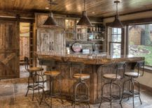 Move-away-from-bold-color-and-flashy-finishes-using-rustic-bar-stools-217x155