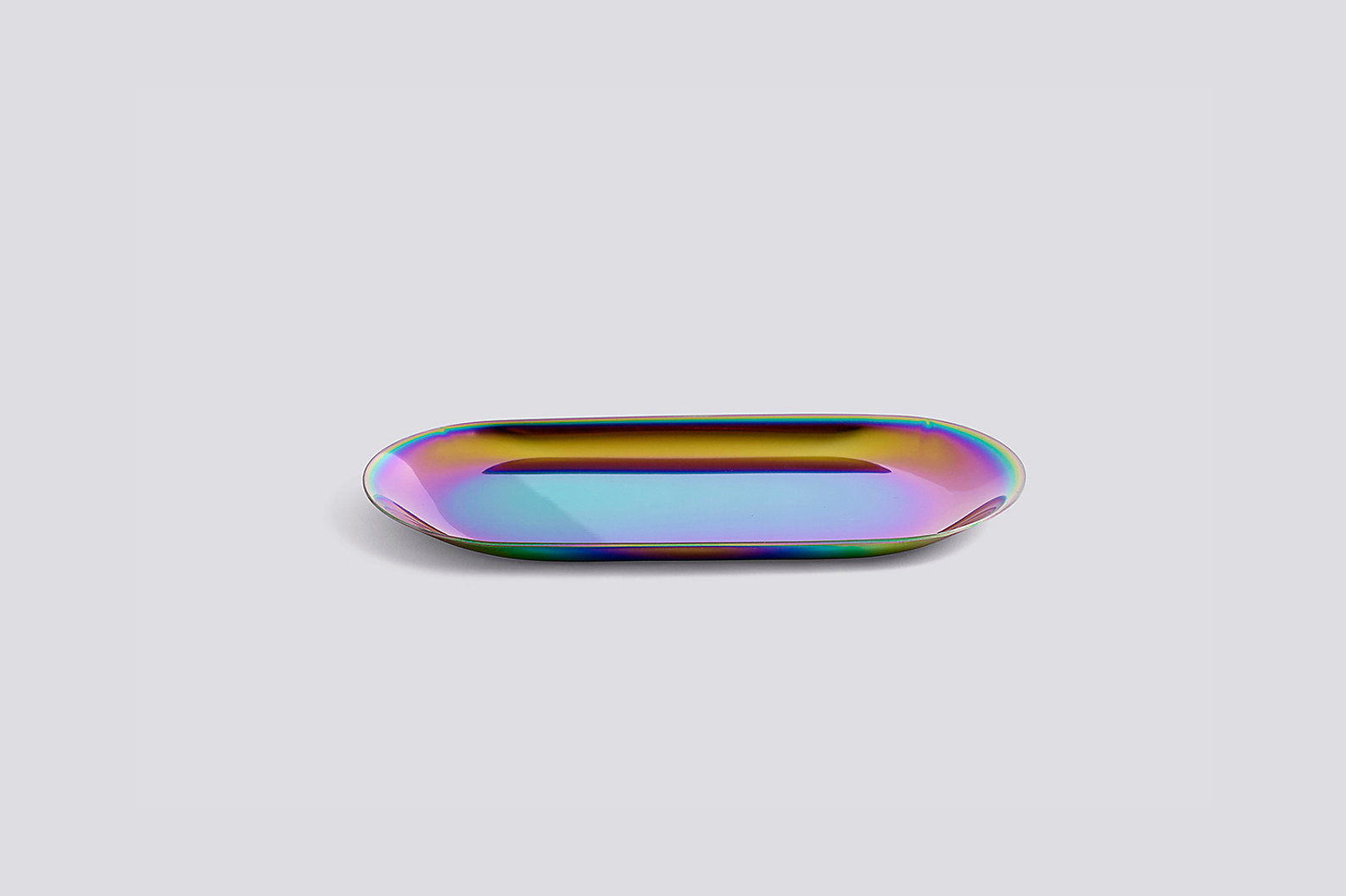 Rainbow iridescent tray from HAY