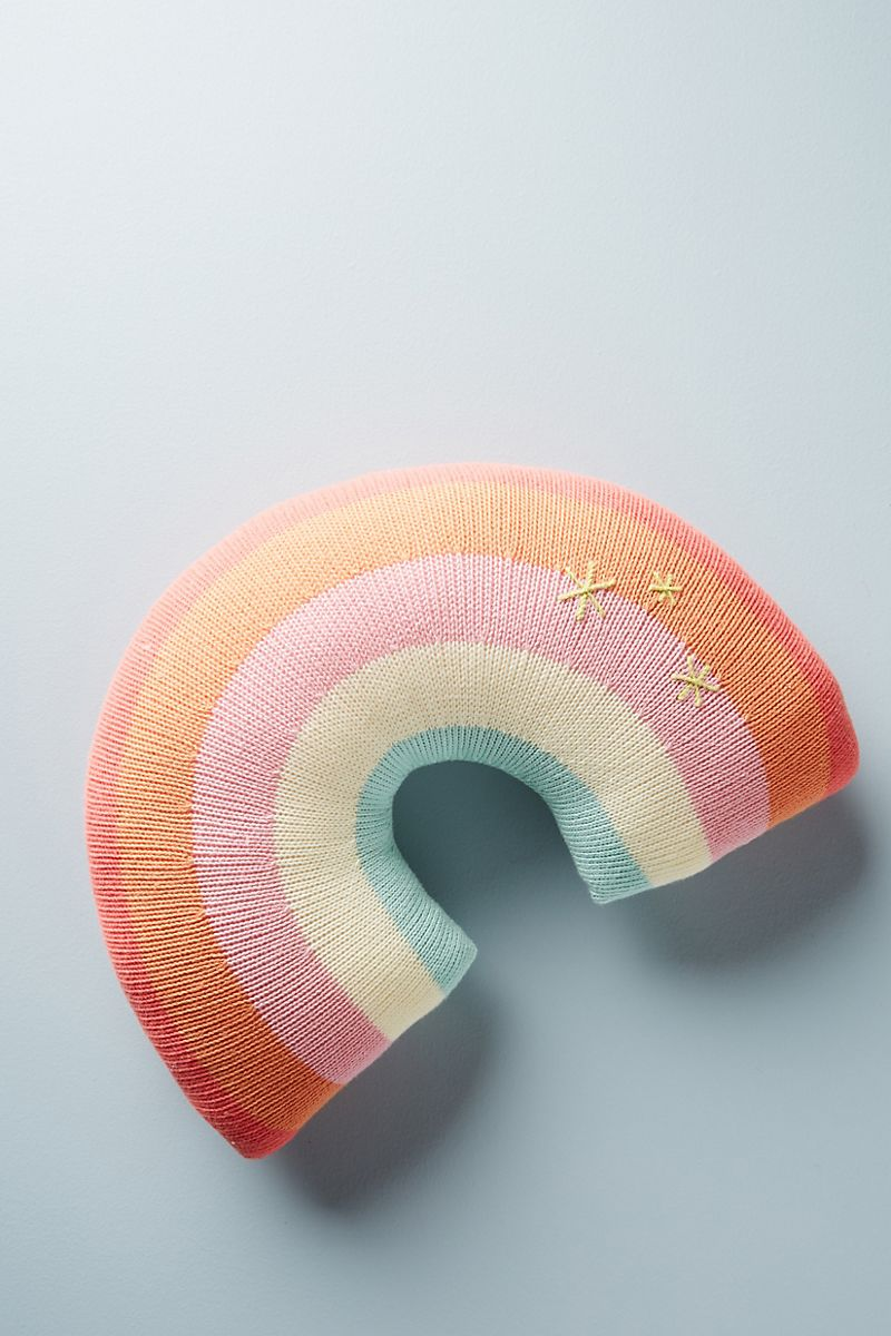 Rainbow pillow from Anthropologie