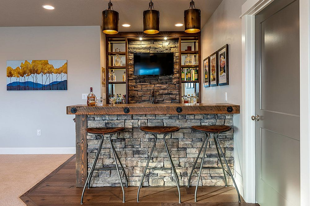 Rustic-style-bar-stools-for-the-home-bar