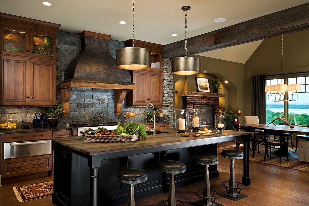 Slim-bar-stools-occupy-minimal-space-around-the-kitchen-island