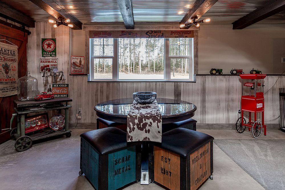 Small rustic basement idea