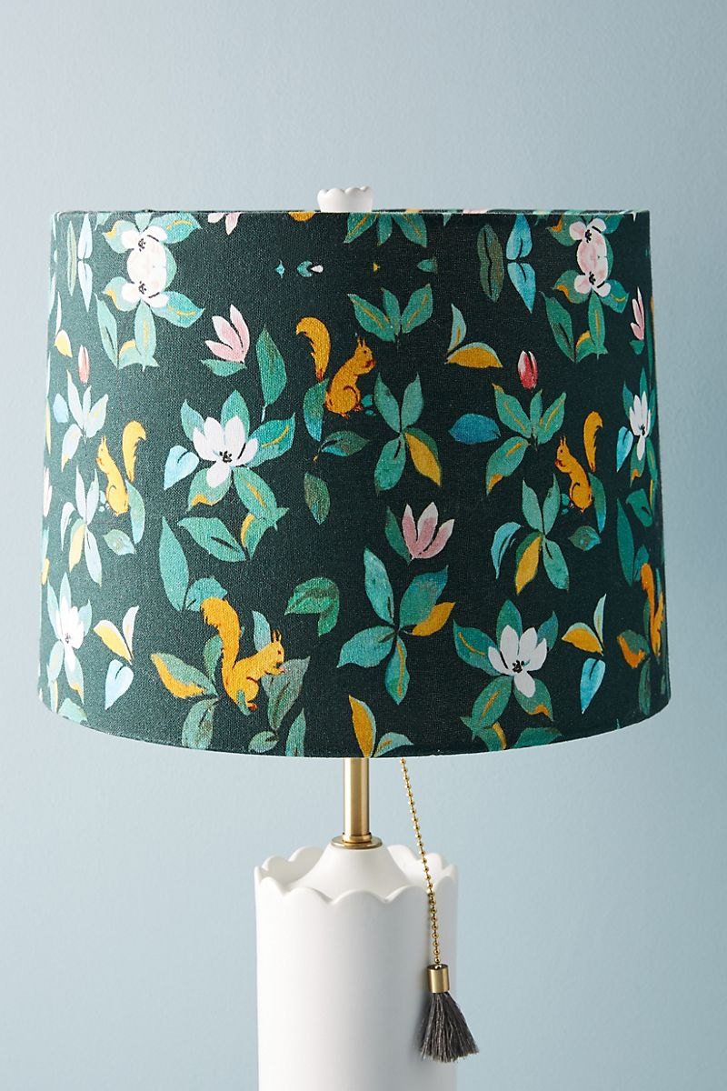 Squirrel lamp shade from Anthropologie