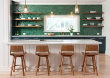 Striking-green-backsplash-with-herringbone-pattern-for-the-contemporary-kitchen-in-white-217x155