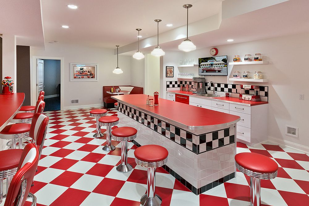 Stunning basement diner with retro panache is a winner all the way!