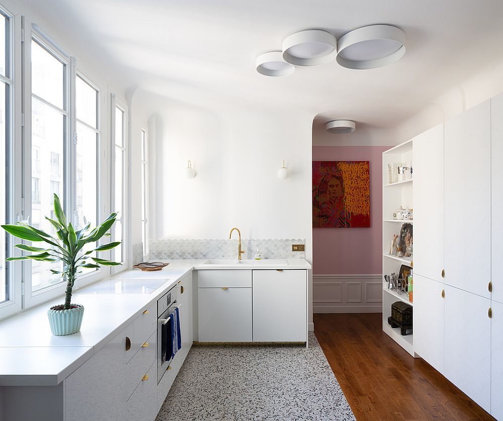 Terrazzo-and-wood-sit-next-to-each-other-in-this-kitchen