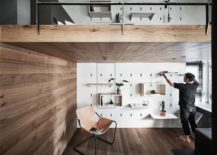Tiny-apartment-with-a-smart-mezzanine-level-and-a-cool-storage-wall-217x155