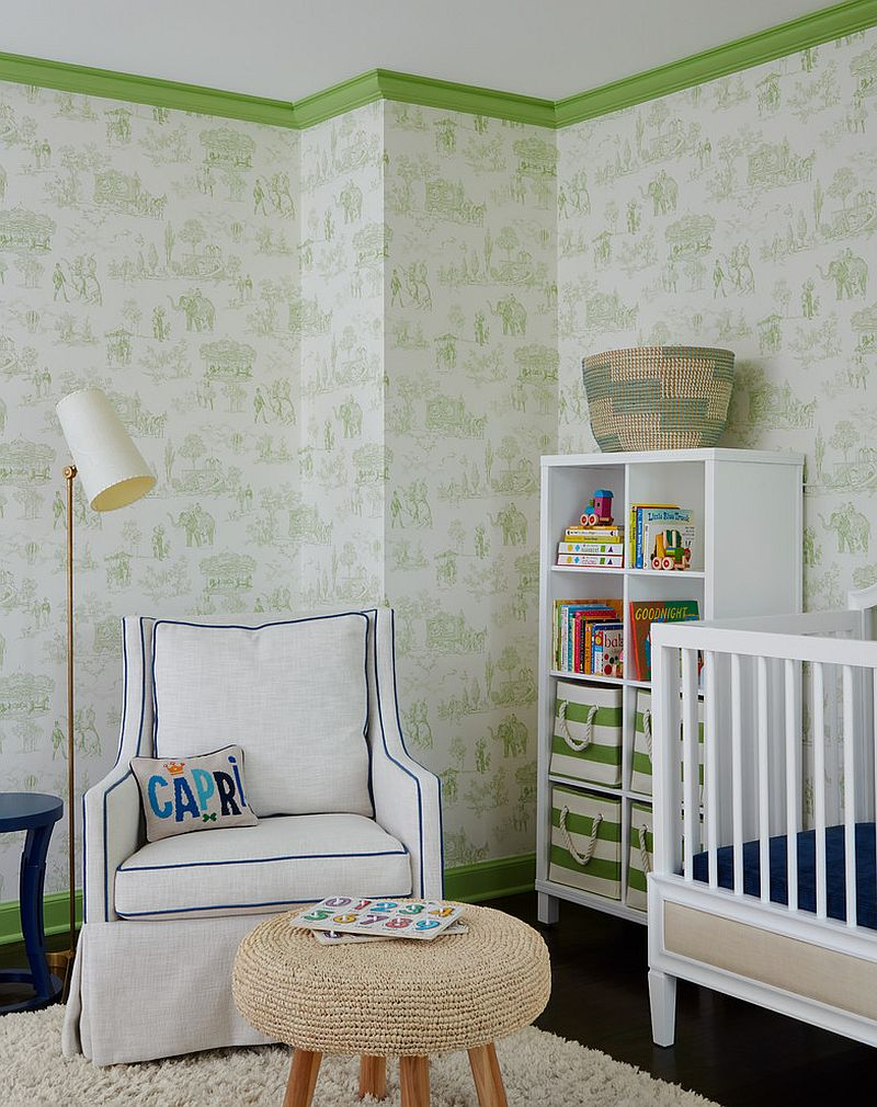 Toulie pattern adds class and color to the fabulous beach style nursery